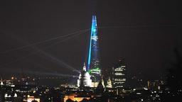 The Shard, der höchste Wokenkratzer Europas, in London.