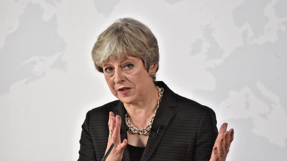 Theresa May bei ihrer Brexit-Rede in Florenz | Bildquelle: REUTERS