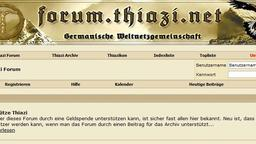 Screenshot des Neonazi-Forums