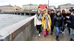 Greta Thunberg demonstriert in Stockholm
