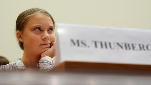 Greta Thunberg im US-Kongress.