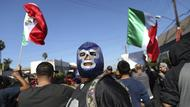 Demonstranten in Tijuana