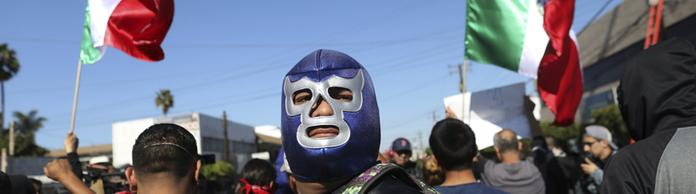 Demonstranten in Tijuana | Bildquelle: AP
