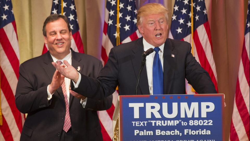 Chris Christie und Donald Trump