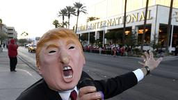 Demonstranten vor Trump-Hotel in Las Vegas