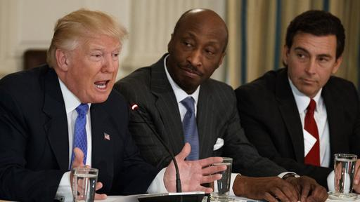 Donald Trump, Kenneth Frazier und Mark Fields