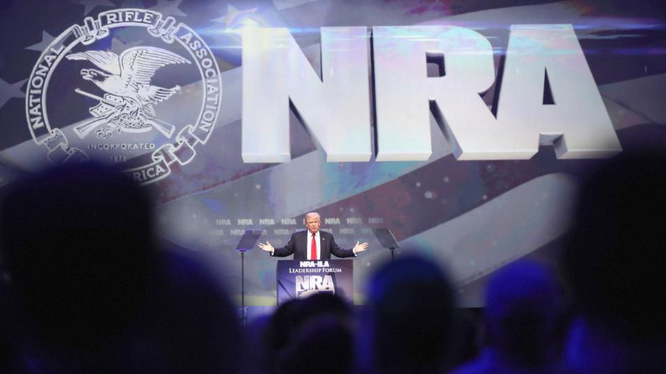 Trump auf dem NRA-Nationalkonvent in Kentucky