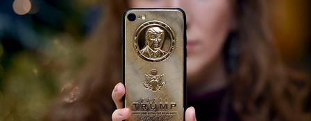"Ein ""Trump-Phone"" der Firma Caviar Phones 