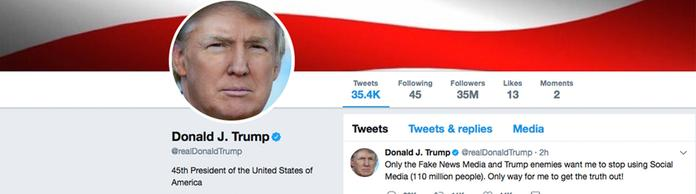 Twitter-Account von Donald Trump | Bildquelle: AP
