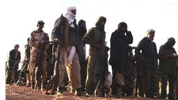 Kämpfer der MNLA (Mouvement National de libération de l'Azawad) in der Nähe von Timbuktu