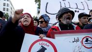 Demonstranten in Tunis