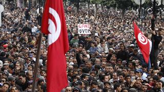 Massenprotest in Tunis