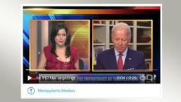 Manipuliertes Video mit Joe Biden | Bildquelle: Screenshot Twitter