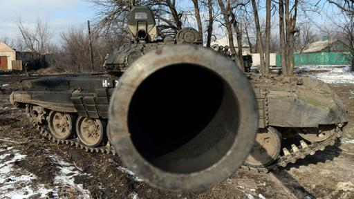A tank of the pro-Russian separatists near Debaltseve (archive picture) |  AFP