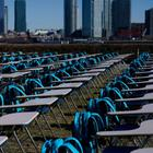 "Installation ""Pandemic Classroom"" in New York 