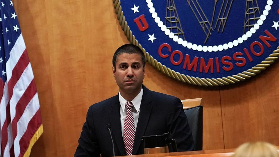 Vorsitzender der US-amerikanischen Federal Communications Commission, Ajit Pai | Bildquelle: AFP