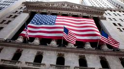 US-Flaggen an der Wall Street