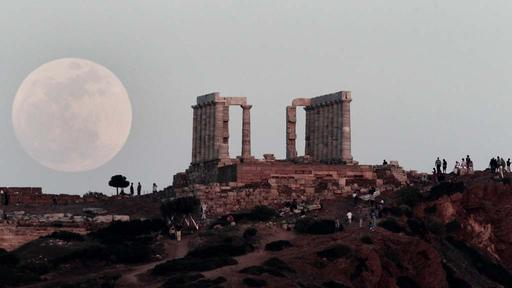 Vollmond in Athen | null
