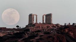Vollmond in Athen