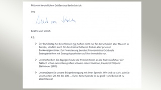"Screenshot: Offener Brief der ""Zivilen Koalition"" 