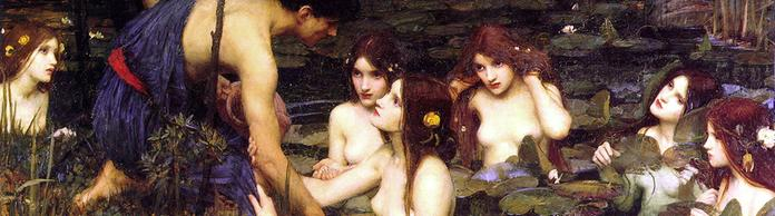 "Gemälde von John William Waterhouse: ""Hylas und die Nymphen"" 