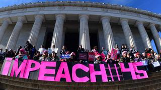 Teilnehmer des Women's March in Washington | Bildquelle: AFP