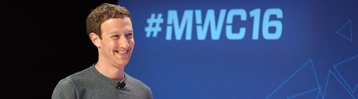 Mark Zuckerberg auf dem Mobile World Congress in Barcelona | Bildquelle: AFP