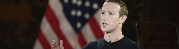 Facebook-Chef Mark Zuckerberg hält eine Rede an der Georgetown Universität in Washington. | Bildquelle: AP