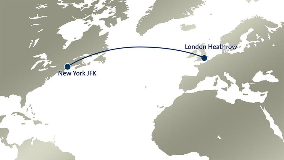 1 London Heathrow - New York JFK