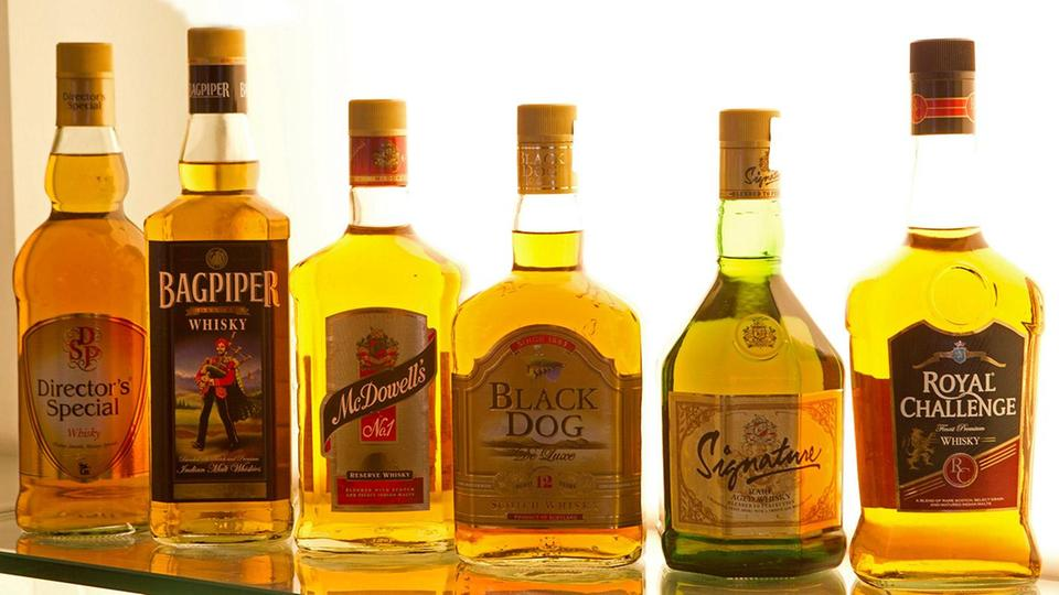 Diageo Whisky-Flaschen
