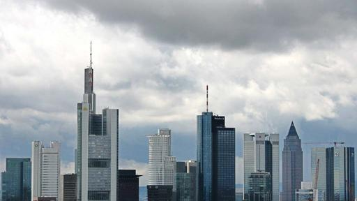 Panorama des Bankenviertels in Frankfurt am Main | null